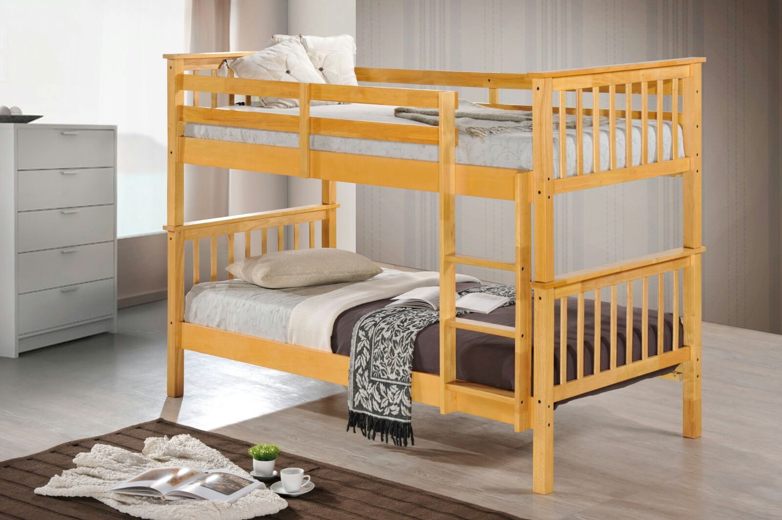 Beech Wooden Bunk Beds