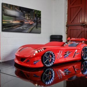 Thunder Red Racing Car Bed