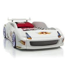 Lamborghini White Race Car Bed