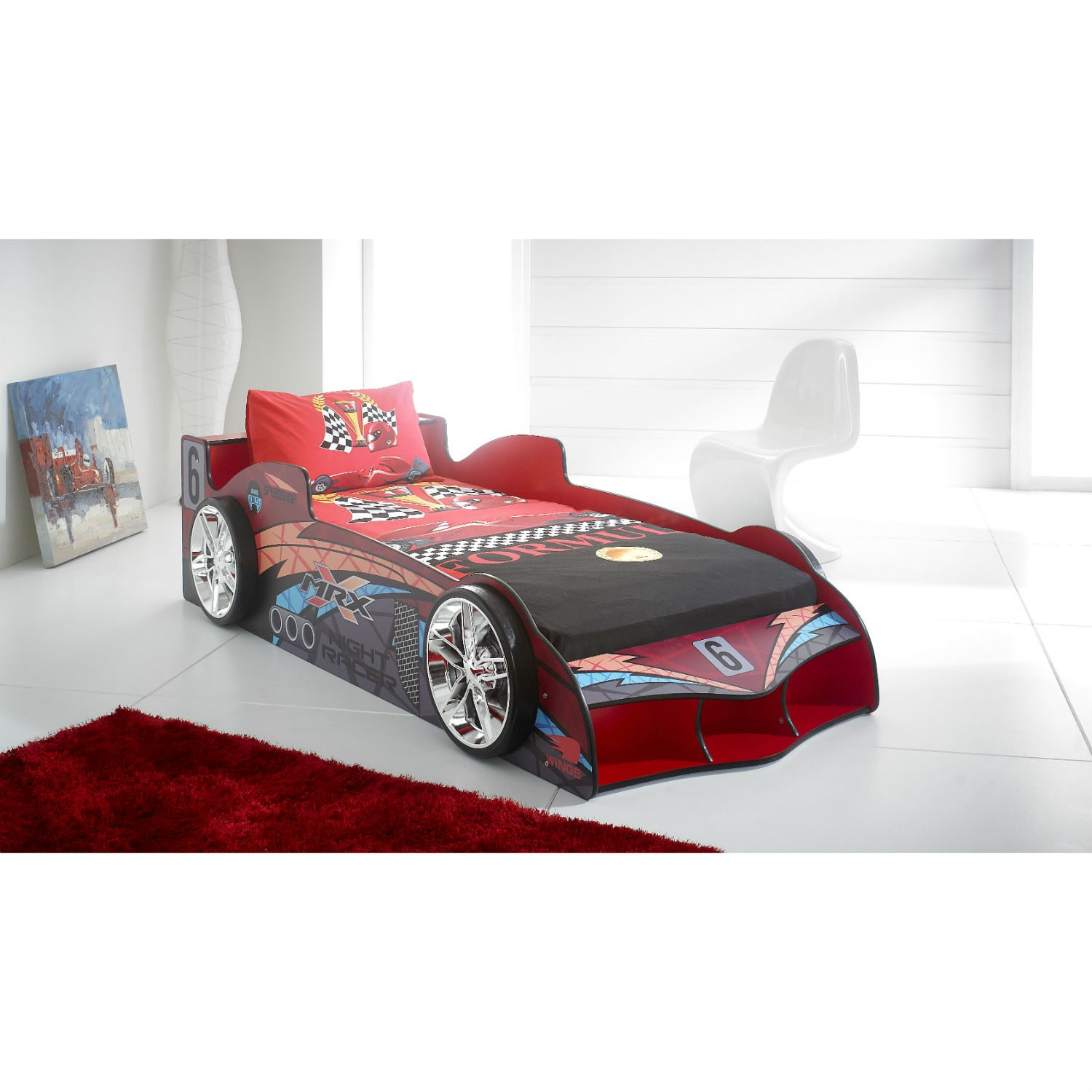 black beds stripes twin delta turbo bed view products car race children room blue