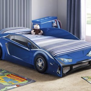 Venom Blue Wooden Car Bed