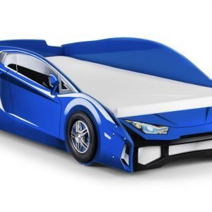 Venom Blue Wooden Racing Car Bed