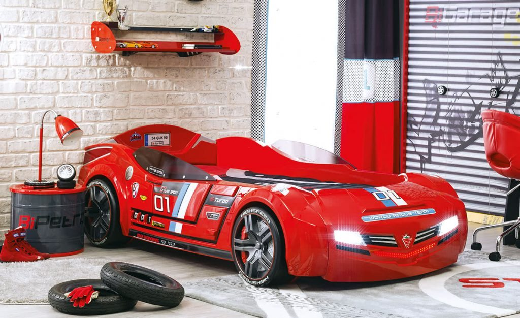 Bi Turbo Red Racing Car Bed