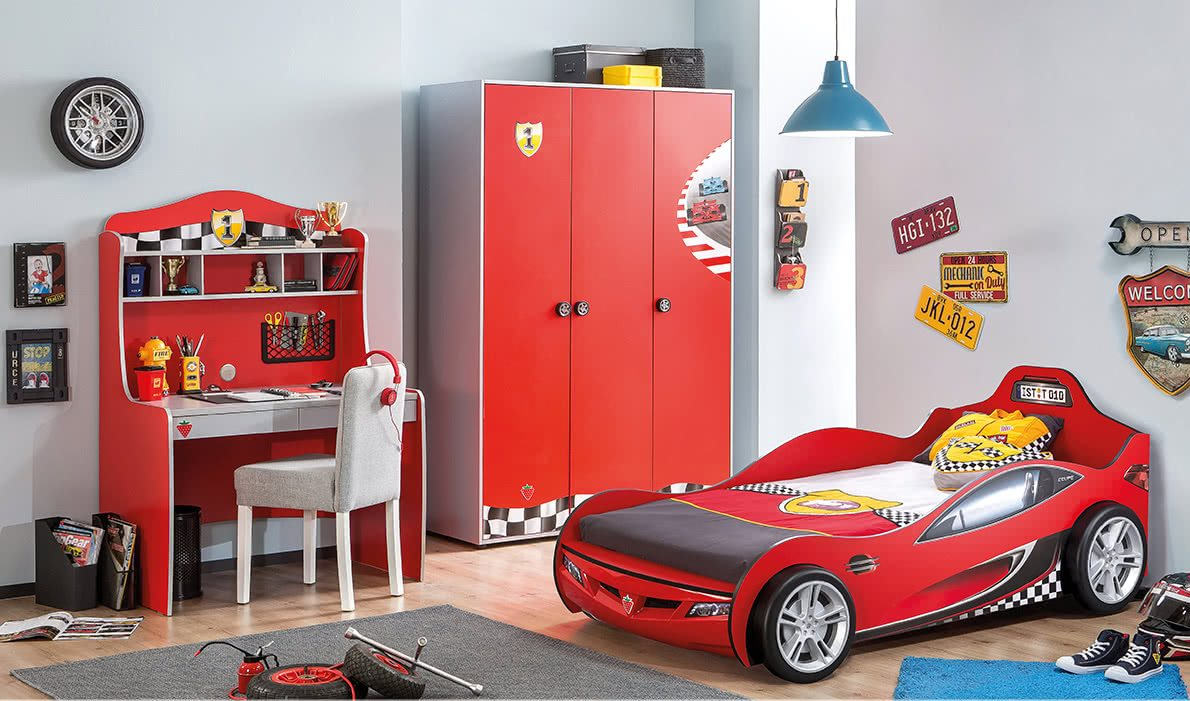 Red Kids Car Bed Cilek Coupe Racing Car Bed Fantasy Furniture